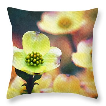 Spring Dogwood Throw Pillow