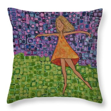 Throw Pillow featuring the painting Spring by Donna Howard