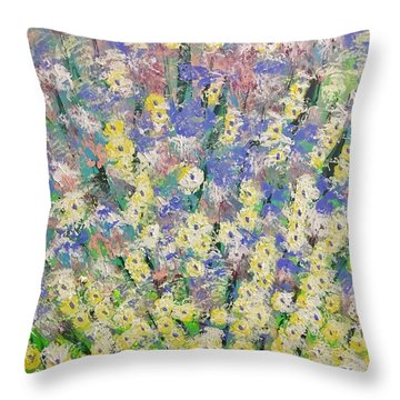 Spring Dreams Throw Pillow by George Riney