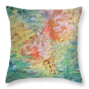 Spring Ecstasy Throw Pillow