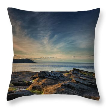 Spring Evening At Madrona Throw Pillow by Randy Hall