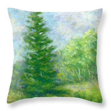 Spring Evergreen Study Throw Pillow