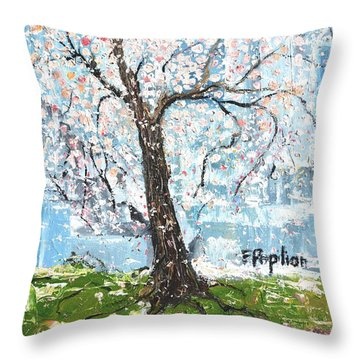 Spring Expression Throw Pillow