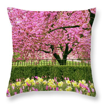 Throw Pillow featuring the photograph Spring Extravaganza by Jessica Jenney