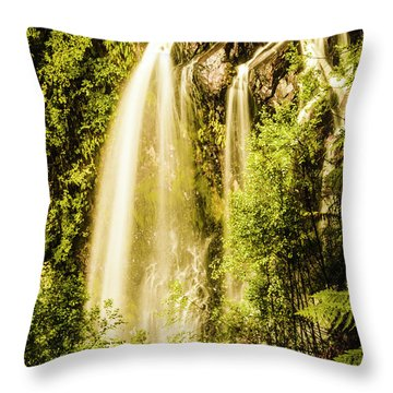 Spring Falls Throw Pillow
