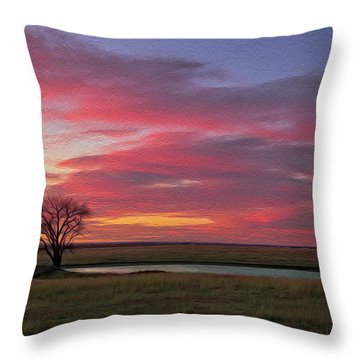 Spring Fed Peace Throw Pillow