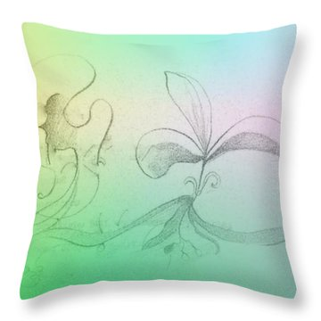 Throw Pillow featuring the mixed media Spring Feelings 1 by Denise Fulmer