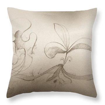 Throw Pillow featuring the mixed media Spring Feelings 2 by Denise Fulmer