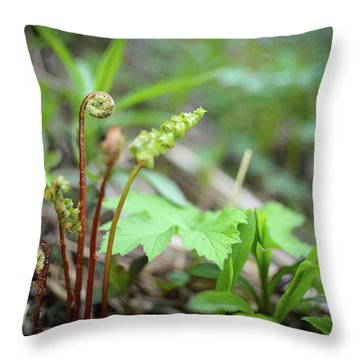 Spring Ferns Throw Pillow