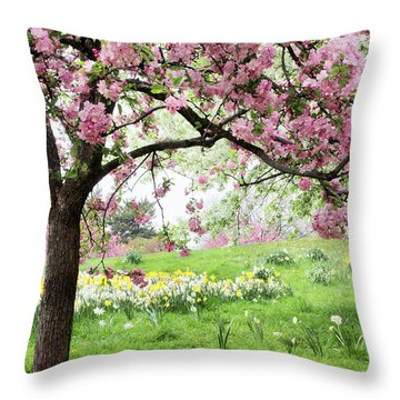 Throw Pillow featuring the photograph Spring Fever by Jessica Jenney