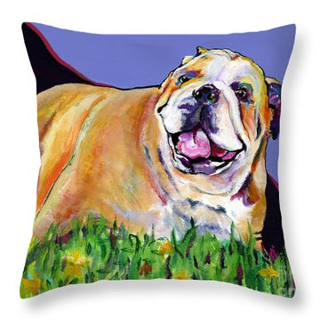 Spring Fever Throw Pillow by Pat Saunders-White