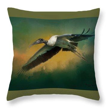 Spring Flight Throw Pillow