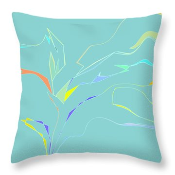 Throw Pillow featuring the digital art Spring Fling by Gina Harrison