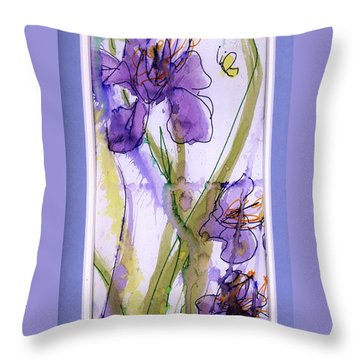 Throw Pillow featuring the painting Spring Fling by P J Lewis