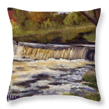 Spring Flow Throw Pillow by Sharon E Allen