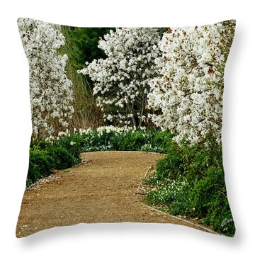 Spring Flowering Trees Wall Art Throw Pillow
