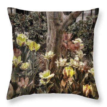 Throw Pillow featuring the photograph Spring Flowers by Joann Vitali