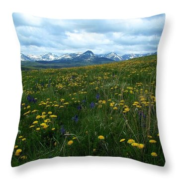 Spring Flowers On The Front Throw Pillow