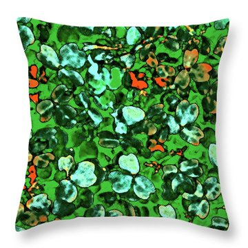 Spring Foiliage Throw Pillow