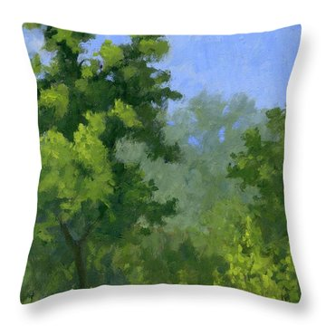Spring Foliage Throw Pillow