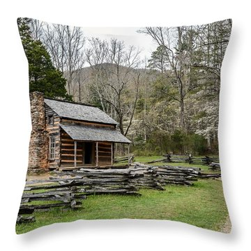 Spring For The Settlers Throw Pillow by Debbie Green
