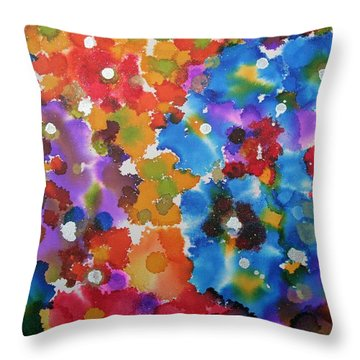 Spring Garden Magic Throw Pillow
