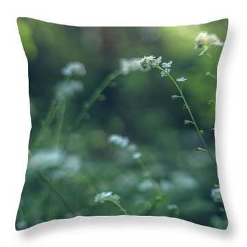 Spring Garden Scene #1 Throw Pillow