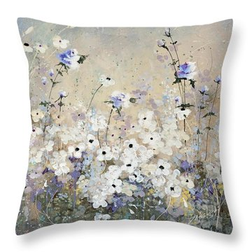 Spring Gardens Throw Pillow by Laura Lee Zanghetti