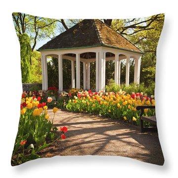 Spring Gazebo Throw Pillow