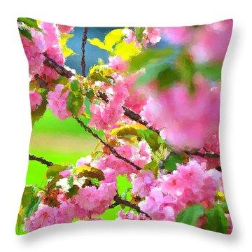 Spring Glory Throw Pillow