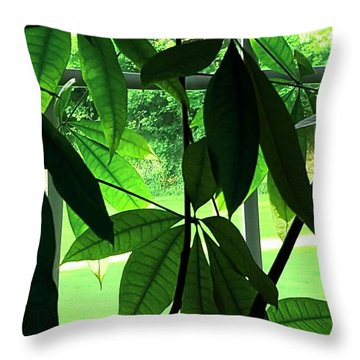 Spring Glow Throw Pillow