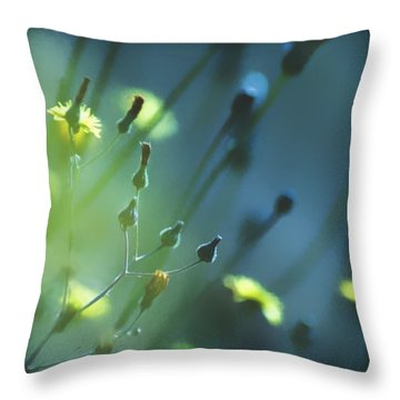 Throw Pillow featuring the photograph Spring Grass by Yulia Kazansky