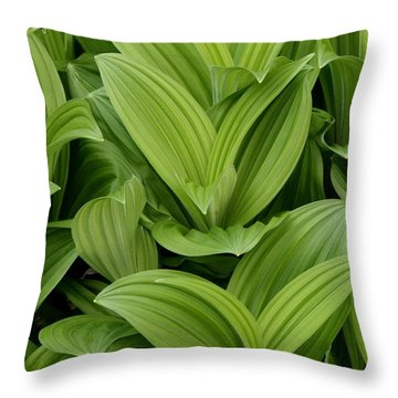 Spring Green Throw Pillow