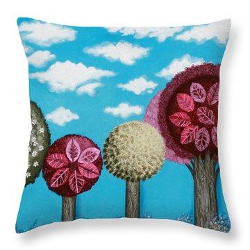 Spring Grove Throw Pillow by Graciela Bello