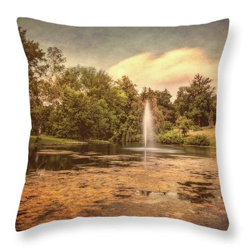 Spring Grove Water Feature Throw Pillow