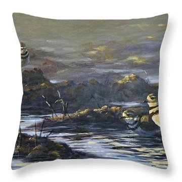 Spring Guests Throw Pillow