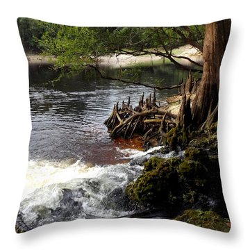 Spring Gushing Throw Pillow
