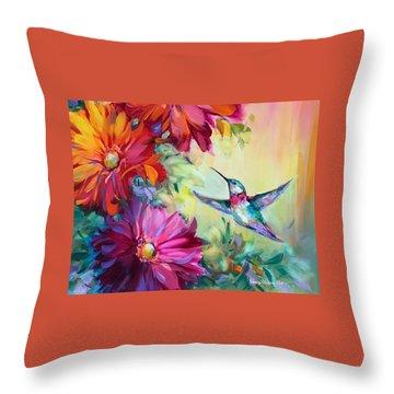 Spring Harbinger Hummingbird Throw Pillow
