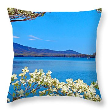 Spring Has Sprung 2 Smith Mountain Lake Throw Pillow