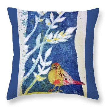 Spring Has Sprung Throw Pillow by Cynthia Lagoudakis