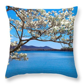 Spring Has Sprung Smith Mountain Lake Throw Pillow