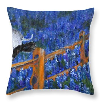 Throw Pillow featuring the painting Spring Has Sprung by Jamie Frier