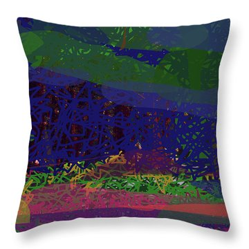 Throw Pillow featuring the digital art Spring Homage To Jackson by Walter Fahmy