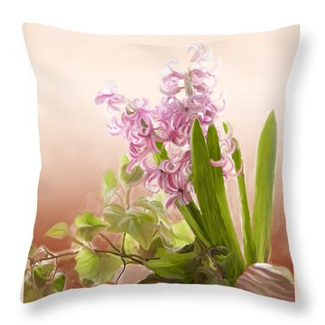 Spring Hyacinth Throw Pillow