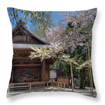 Spring In Edo Throw Pillow by Alan Toepfer