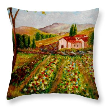 Spring In France Throw Pillow