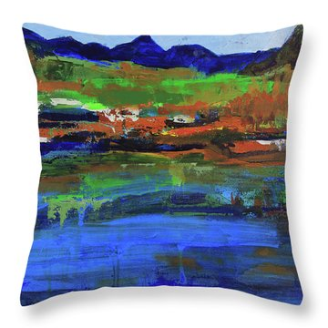 Throw Pillow featuring the painting Spring In High Country by Walter Fahmy