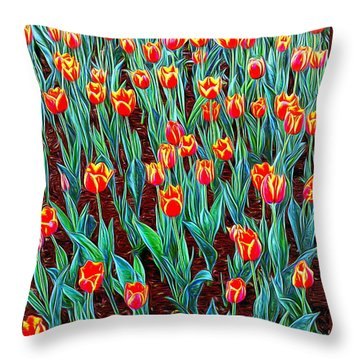 Spring In Holland Throw Pillow