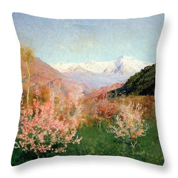 Spring In Italy Throw Pillow by Isaak Ilyich Levitan
