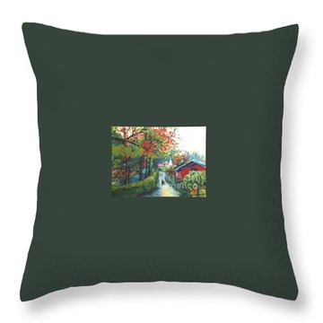 Spring In Southern China Throw Pillow by Guanyu Shi